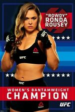 RONDA ROUSEY UFC CHAMPION ENTOURAGE STRIKEFORCE LICENSED BRAND NEW POSTER