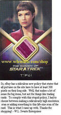 Women Of Star Trek WCC9 T'Pol Costume card RARE! MINT! SEAM! Jolene Blalock!