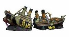 56cm 2 part Titanic Ship Aquarium Ornament fish tank hide cave wreck war wreck