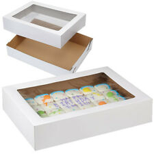 Wilton 415-0966  Corrugated Cake Box with Window, 2pk, 19 x14 x 4-Inch