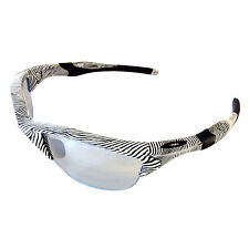 NEW Oakley Half Jacket 2.0 Sunglasses Fingerprint White Slate Iridium OO9153-22