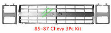 85 86 87 88 CHEVY TRUCK 3PC Grill Head Light Door Kit Silverado Suburban