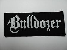 BULLDOZER  WHITE WOVEN  PATCH