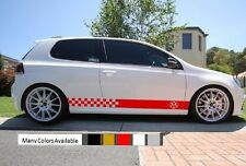 Decal sticker Stripes kit For Volkswagen Golf Mk4 Mk5 Mk6 Mk7 Emblem Badge body