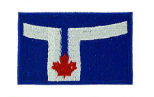 TORONTO CANADA CANADIAN FLAG PATCH Patches backpack BADGE IRON ON EMBROIDERED