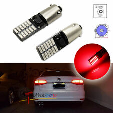 2PCS Red Canbus Error Free Bay9s H21W 64136 120° Socket 24-SMD LED Lights Bulbs