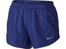 New Women's Nike Dri-Fit Modern Tempo Running Shorts Size 10 Small Blue