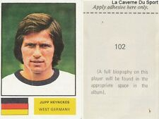 102 JUPP HEYNCKES WEST GERMANY STICKER Soccer Stars WORLD CUP 1974 FKS PUBLISHER