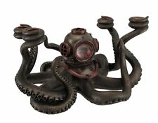 "12"" Steampunk Octopus Candelabrum Decor Statue Candle Holder Figure Animal"