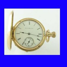 Superb 14K Gold Illinois Hunter 17J RR Pocket Watch 1884
