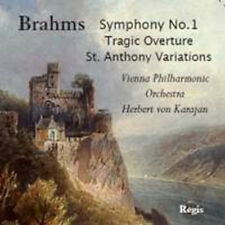 CD BRAHMS SYMPHONY 1 TRAGIC OVERTURE VARIATIONS HAYDN KARAJAN VIENNA  PHILHARMON
