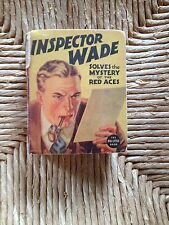 Vintage 1937 Inspector Wade Solves the Mystery of the Red Aces BLB  B21