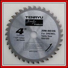 36 tooth carbide blade 4 inch made Japan by Tenryu for Dremel 580 588 Table Saw