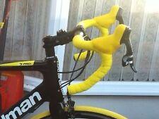 Ciclismo strada Bicicletta Sughero GEL Manubrio Nastro in giallo. UK Venditore Gratuito distacco