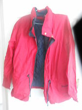SPALDING MENS LARGE RED LONG SLEEVED ZIP FASTEN JACKET (EX CONDITION)