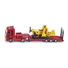 Siku 1866 MB Actros LKW Low loader red with Sport aircraft yellow Scale 1:87 ! °