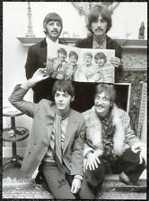 THE BEATLES POSTER PAGE 1967 SGT PEPPER PRESS LAUNCH JOHN LENNON . J53