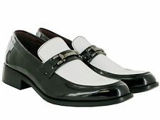 BRAND NEW MENS SMART PATENT WEDDING FORMAL SLIP ON BUCKLE SHOES UK SIZE 6-11