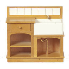1/12 Scale Dolls House Furniture   SMALL COUNTRY SINK/OAK  31022GO