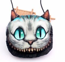 3D Digital Printing Handbag Alice Cheshire Cat Leather Cross Hobo Shoulder Bag