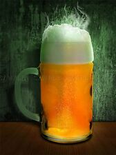 PINT GLASS BEER LAGER DRINK KITCHEN BAR PHOTO ART PRINT POSTER PICTURE BMP166A