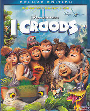 Blu-ray 3D + Blu-ray 2D + Dvd DreamWorks **I CROODS** nuovo Slipcase 2013