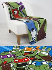 Extra Grandes Super Suave Teenage Mutant Ninja Turtles Manta Polar Cama Tirar