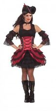 Rouge Pirate Womens Sexy Halloween Costume One Size Fits All up to 14/16 New