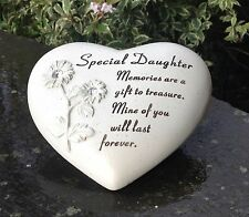 Memorial For Special Daughter Heart Shaped Grave Ornament Funeral Tribute