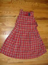 RALPH LAUREN GIRLS DRESS size 6X RED PLAID 100% COTTON BEAUTIFUL
