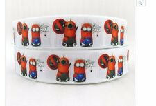 Deadpool & Spiderman Minion ribbon for cake decoration or scrapbooking