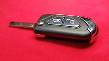 PEUGEOT 3O8 PARTNER 808 EXPERT 2 BUTTON REMOTE FLIP KEY FOB CASE VA2 NO GROOVE