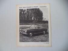 advertising Pubblicità 1965 FIAT 1500 COUPE' PININFARINA