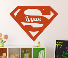Superman Wall Decal Custom Name Vinyl Sticker DC Comics Home Decor Ideas 35(nse)