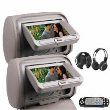 "Sale 7"" HD Car Headrest Digital Monitor DVD Player Pillow USB SD FM IR Headphone"