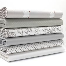 FQ Bundle - Dusty Summer Shades of Grey x 6 - Cotton Fabric Patchwork Quilting F