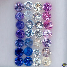 2.98CT UNHEATED AA 28PCS DIAMOND CUT FANCY COLOR BURMESE SAPPHIRE