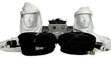 2-man Tyvek hood supplied air respirator w/50' air hoses