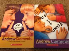 2 Andrew Clements School Stories- No Talking & Lost & Found 2007 HC Chapter