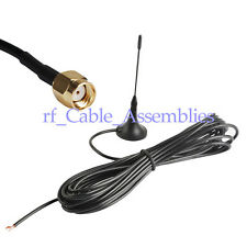 Antenna 868Mhz,3dbi RP SMA male 5m cable RG174 with Magnetic base for Ham radio