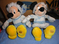 Disney store exclusive Mickey & Minnie Christmas outfit plush dolls
