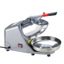 Electric Ice Crusher Shaver Machine Snow Cone Maker Shaved Ice Stainless Steel