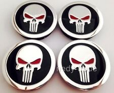 PUNISHER wheel center hub centre caps plain set 4 pcs 60/55mm for alloy wheels