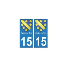 15 Arpajon-sur-Cère ville autocollant plaque arrondis