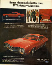 Vintage ad for 1971 Mercury Montego/Red/Ford (042613)