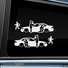 (1669) 2x Fun Sticker Aufkleber / Catch Real Criminals BMW E46 Coupe M3