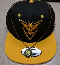 Pokemon Go Cap Hat Embroider Team INSTINCT FREE SHIP, FREE NECKLACE! US SELLER!
