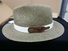 BAILEY OF HOLLYWOOD ARCH STRAW FEDORA-LICHEN-LARGE-NWT