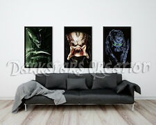 Predator Without the Mask, AVP, Limited Edition Art Print - Darkstars Creation