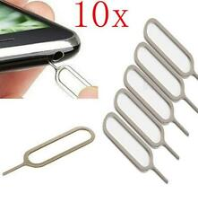 10Pcs Sim Card Tray Remover Eject Ejector Pin Key Tool for iPhone 6 5S 4S 4 iPad